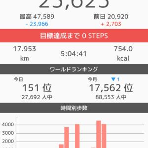 今日の歩数