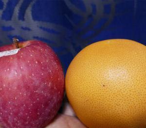 アップルとグレープフルーツ