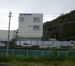 小笠原海上保安署の新しい建物の外装が出来てきました。