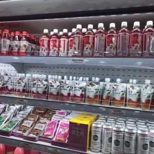 聞慶セジェの農特産物直売所で買った「山茱萸のパウチドリンク」美容・老化防止に…