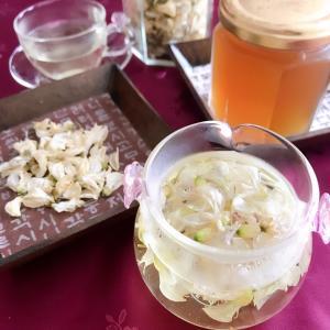 アカシアの花茶ができあがりました!早速お味見^^