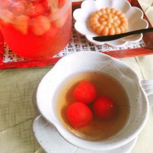 プチトマト×梅シロップの夏デザート!ソウルのお気に入りカフェのメニューを再現