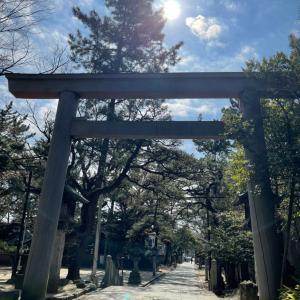 久しぶりに休みに神社参拝しました。