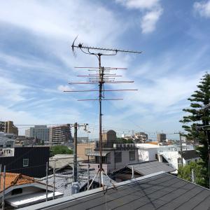 3階アンテナ撤去足場有り 大阪市阿倍野区播磨町