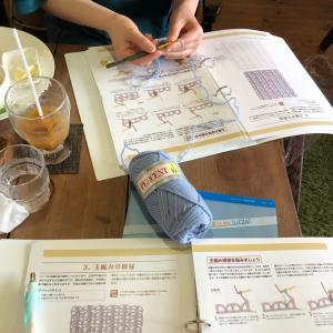 茨木開講  『かぎ針編み入門コース』のレッスンでした