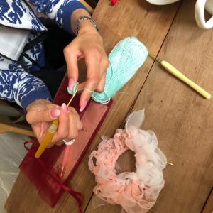 茨木開催  少人数編み物レッスンでした