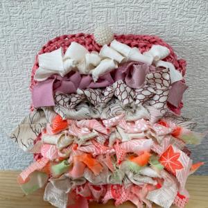kimono  yarn  盛モリポーチ完成