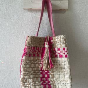 手織り教室  キューブバッグ完成