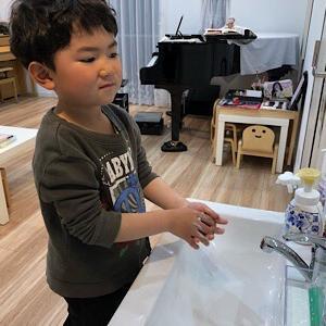 まずは手洗い…教室内に設置してよかった洗面台