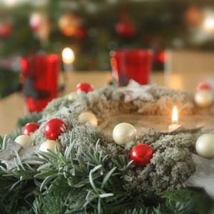 クリスマスリースの会☆グリューワインやクリスマス菓子と
