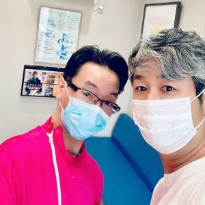 親友が来院。歯のホワイトニングとメンテナンス