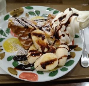 サンマルクカフェ アメリカンワッフルチョコバナナ