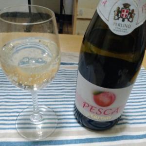 桃のスパークリングワイン