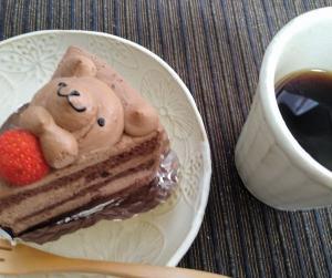 くまちゃんチョコレートケーキ