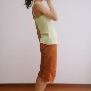歯磨き姿勢と、お腹を引っ込める意識のポイント