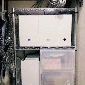 小さな収納庫の整理