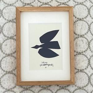 山口一郎さんのシルクスクリーン「Blue Bird」