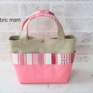 春色の帆布トートバッグ♪  ピンク色
