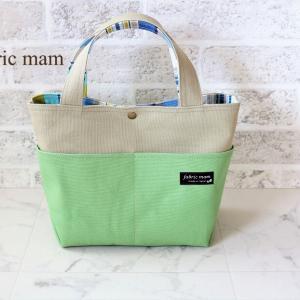 爽やかな帆布トートバッグ♪ アップルグリーン色