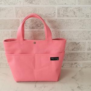 帆布トートバッグ I色タイプ ピンク色♪