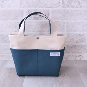 帆布トートバッグ sサイズ ミネラルブルー色
