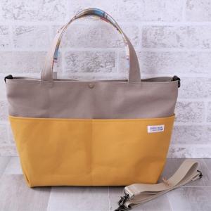 カスタマイズ可能な帆布トートバッグ♪  lサイズ マスタード色