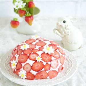 * 苺のドームケーキ♪