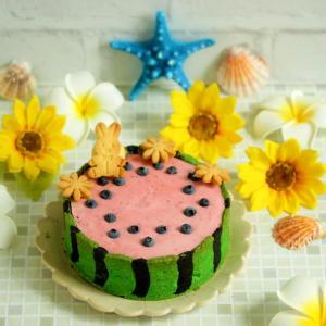 * 絶望的に可愛い♡スイカのチーズケーキ♪