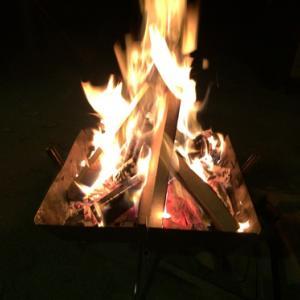 温泉キャンプと焚き火で幕内22度