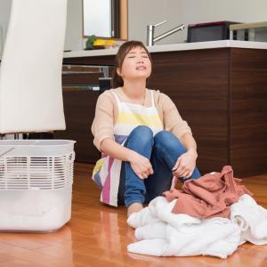 洗濯物を畳んだのに、そのまんま放置され続けてたのが・・・?