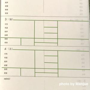 【2020・手帳の下準備(8)】「主婦日記」のウィークリーをセットする! & 鎖骨骨折生活41日目