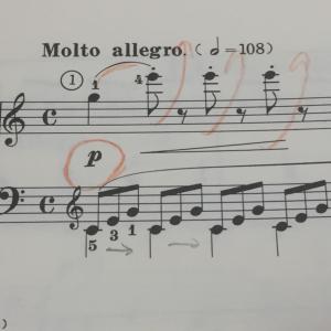 PIANO Lesson 28 シベリウス 樅の木④&ハノン、ツェルニー、インヴェンション1