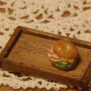 ミニチュア ベーグルサンドイッチ作ったよ