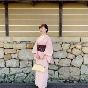 レース刺繍着物と秋色コーデ【着物コーデ】