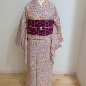 アンティーク着物で春コーデ【着物コーデ】