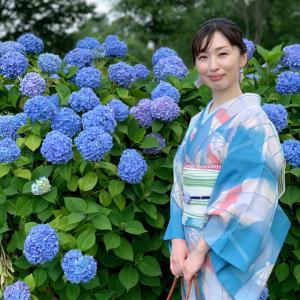 【着物でお出かけ】紫陽花を見に行ってきました♪