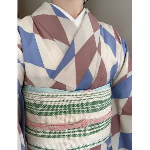 【着物コーデ】セオアルファの着物と夏の名古屋帯