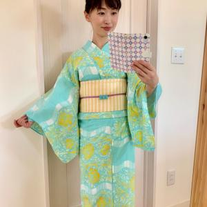 ミントグリーンの浴衣【浴衣コーデ】