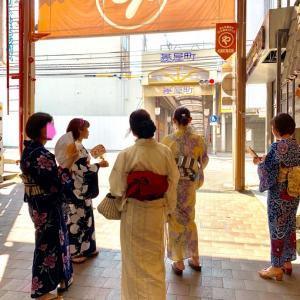 丸二果実店でフルーツパフェ♡【浴衣でお出かけ】