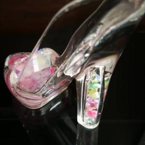 ガラスの靴/ドライフラワー紫陽花リース(発注分のみ)