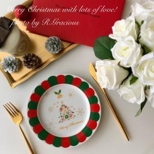 スカラップリムでCuteなクリスマスプレート♡ポーセラーツで楽しむクリスマス