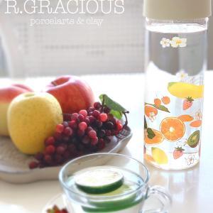 カラフルフルーツのガラスボトル