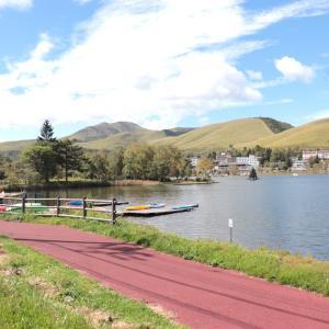 白樺湖でカヌー体験!