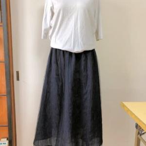 紗の着物からスカート