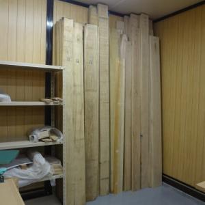 木工教室用の木材が届きました