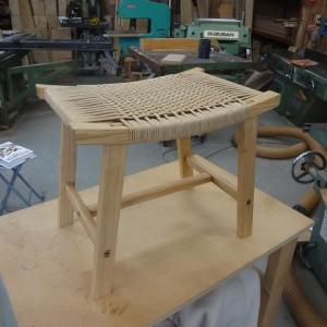 木工教室 Sさま スツール完成