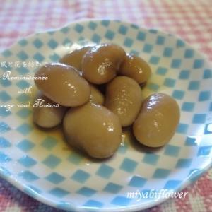 白花豆の甘煮 素焚糖と蜂蜜で そしてあのグリーンピースは・・・