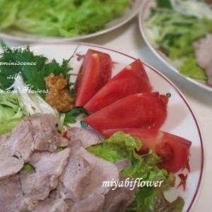 「茹で塩豚」にんにく味噌添え(レシピあり)