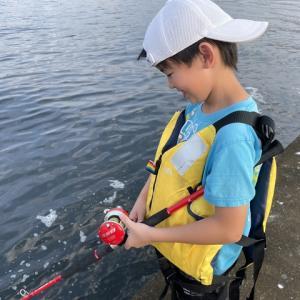 神戸港タコ釣りと落水