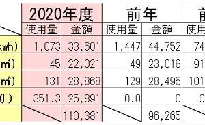 アーリーリタイア夫婦の年間光熱費 ~2020年度のビッグニュースは電気代!~